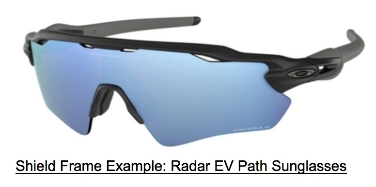 Shield Frame Type: Oakley Radar EV Path