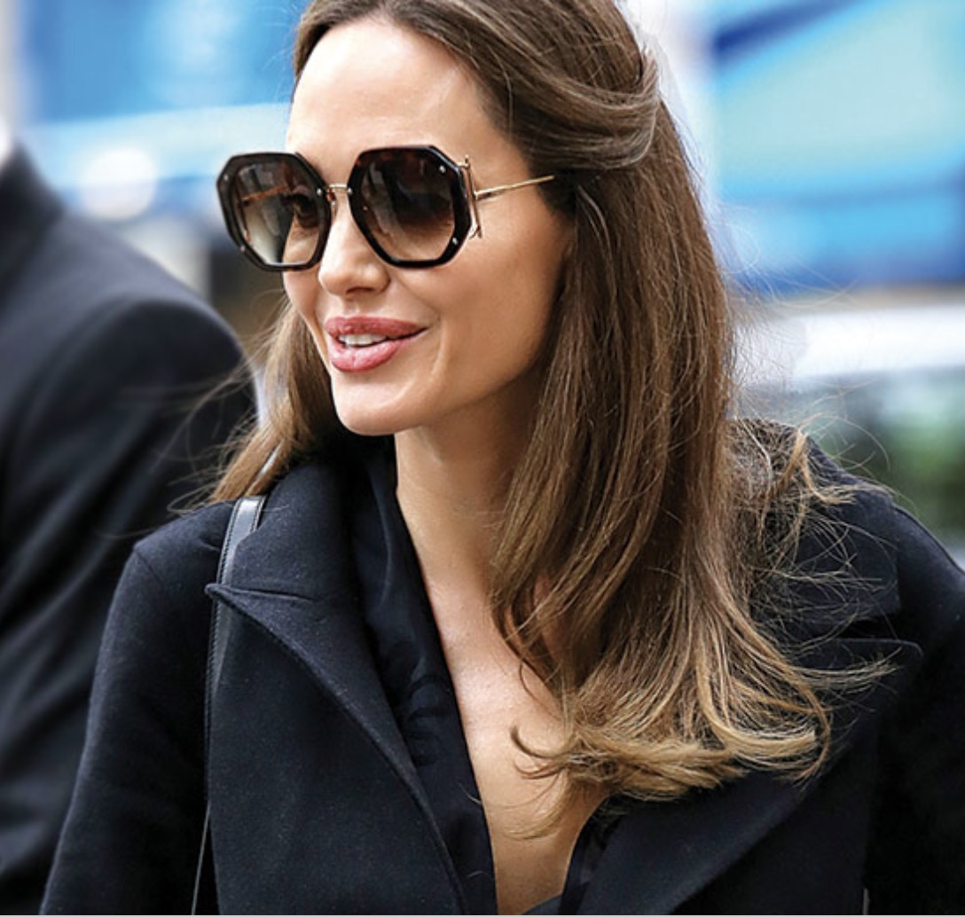 Angelina Jolie wears the Salvatore Ferragamo SF940S Sunglasses in Paris