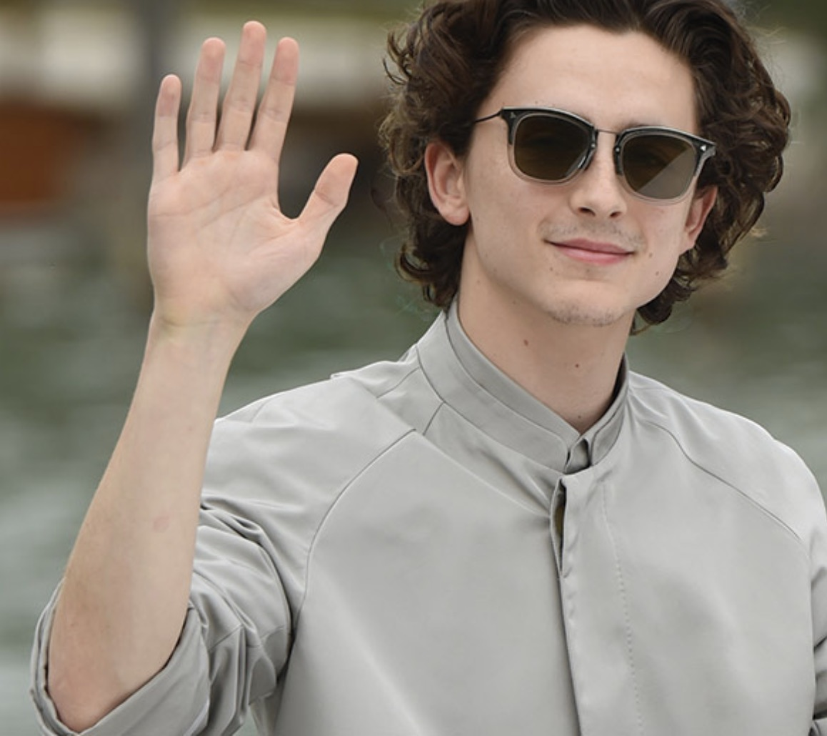 Timothee Chalament wears the Fendi FFM 0045/S sunglasses in Venice.