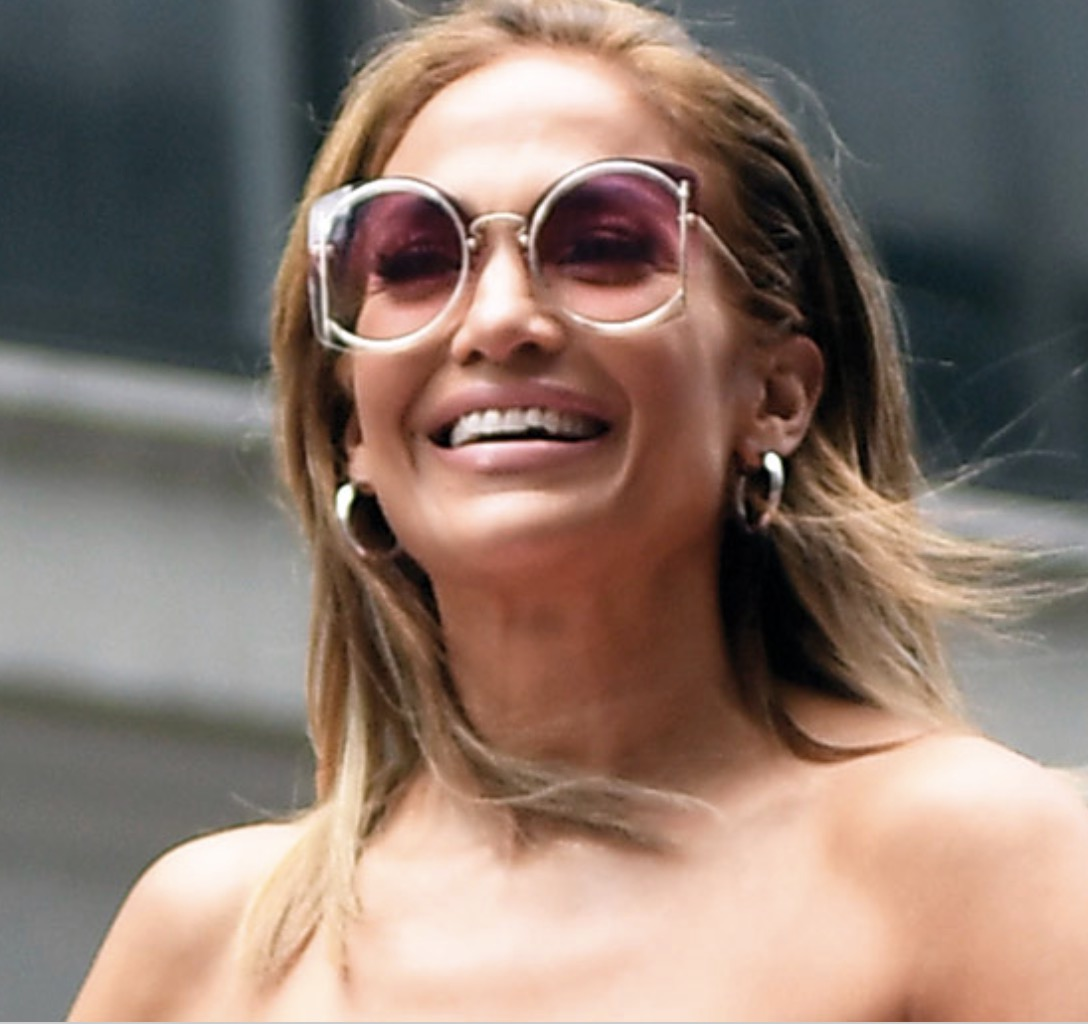 Jennifer Lopez loves the Salvatore Ferragama SF196S sunglasses in New York City.