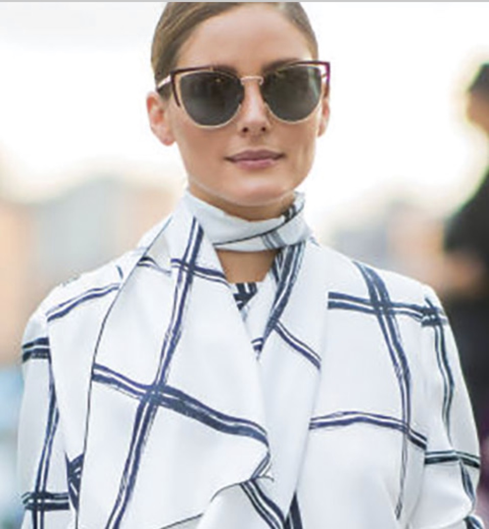 Olivia Palermo wowwed New York City in the Salvatore Ferragamo SF183S Sunglasses.