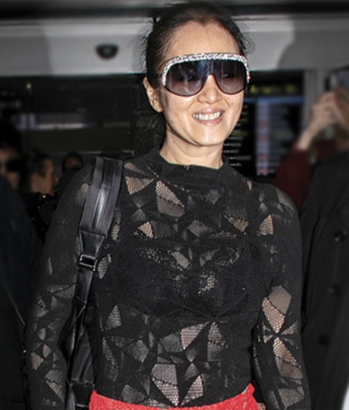Gong Li steps out wearing Jimmy Choo Siryn sunglasses