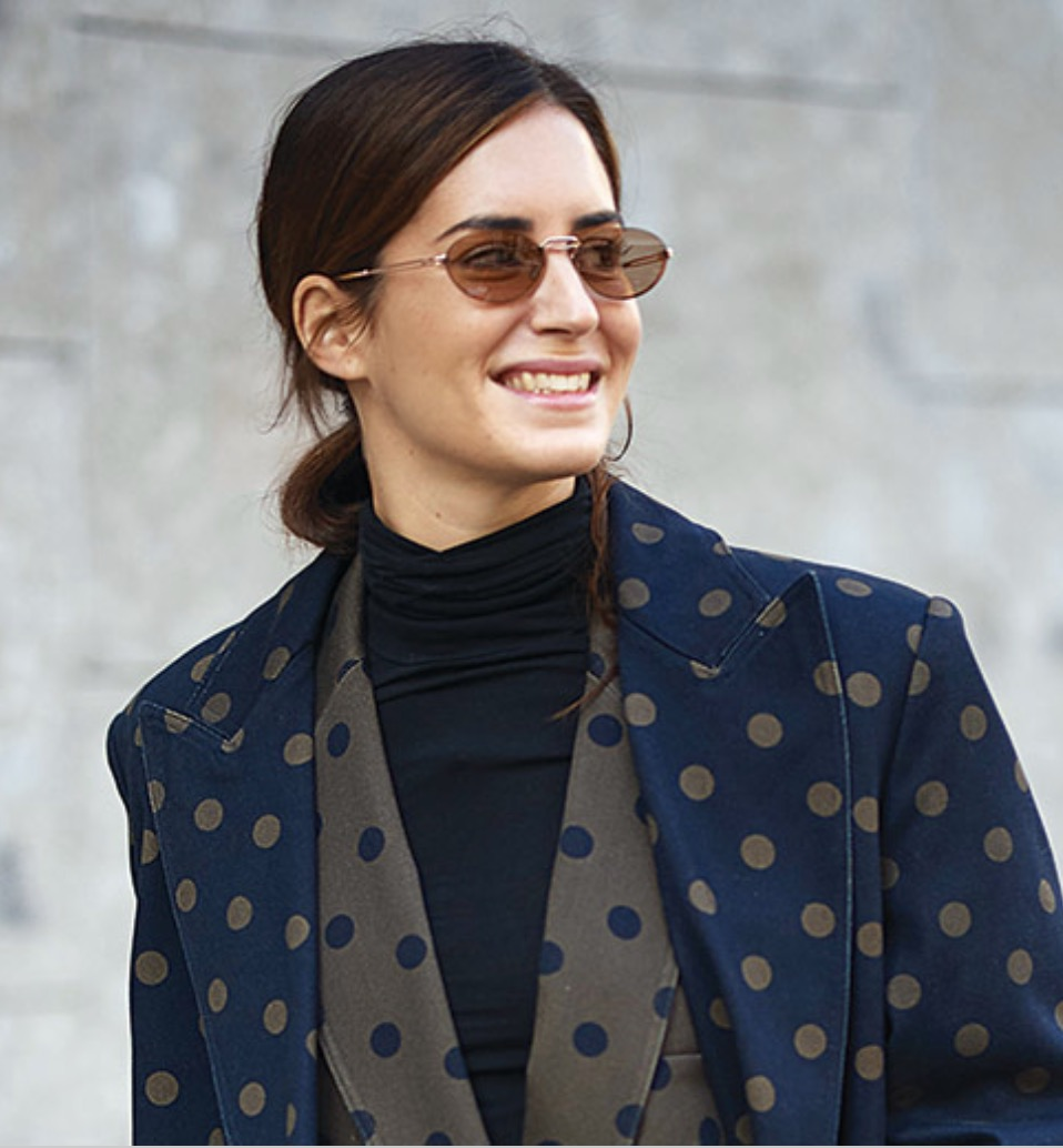 Influencer Gala Gonzalez hits Milan Fashion Week with Max Mara Bridge II sunglasses