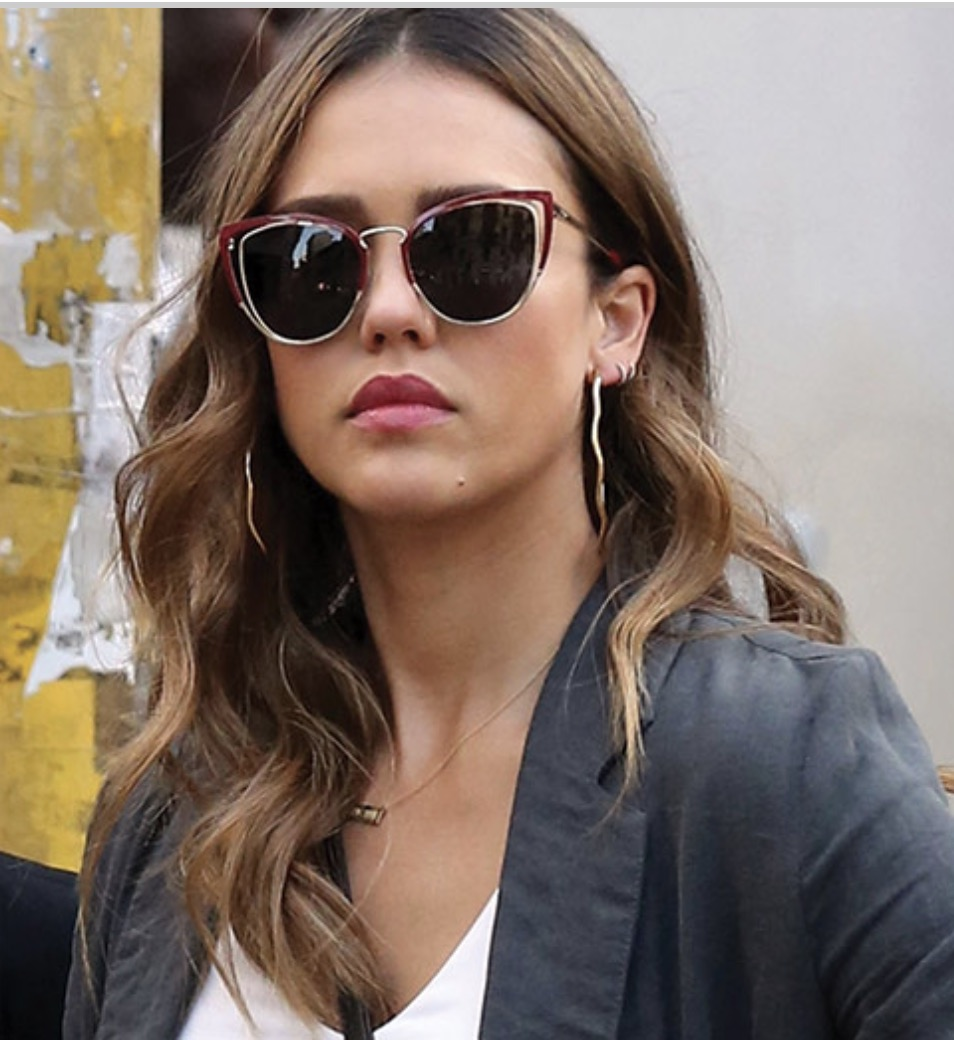 Jessica Alba sporting the Salvatore Ferragamo SF183S sunglasses
