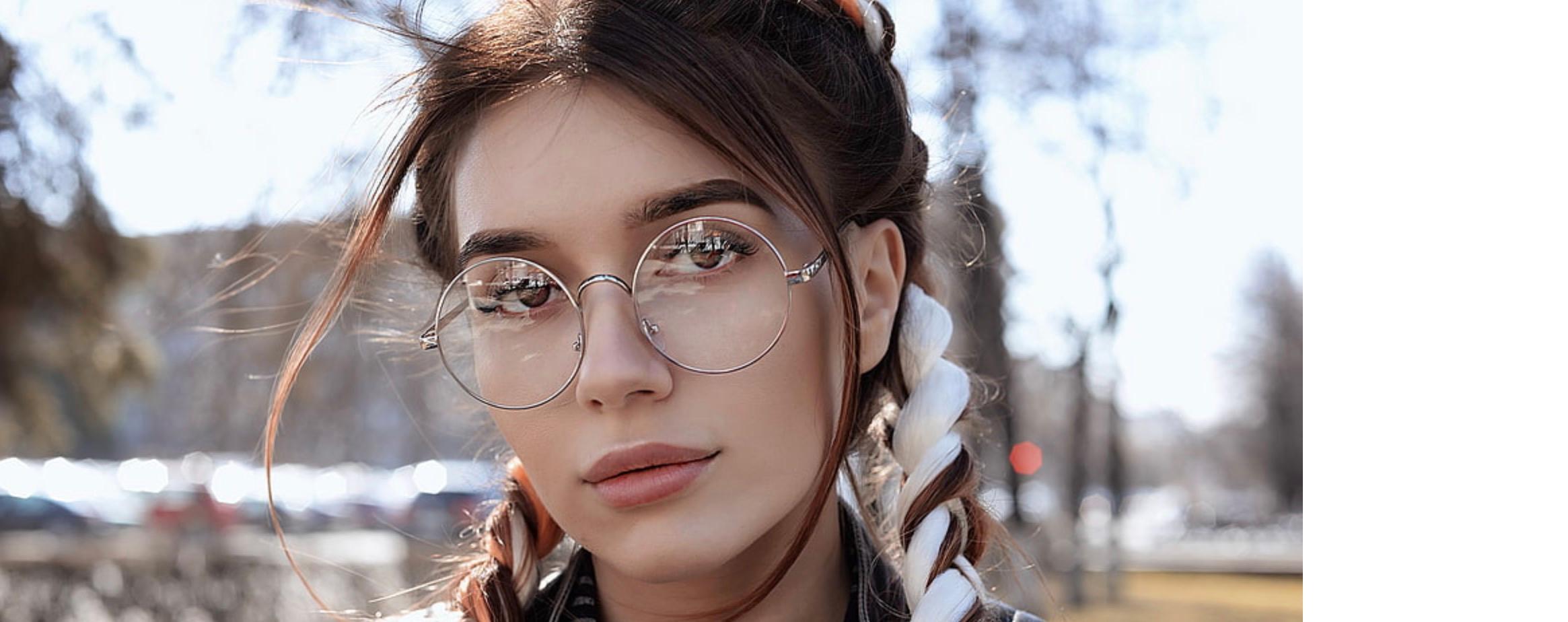 Womens Round Metal Glasses