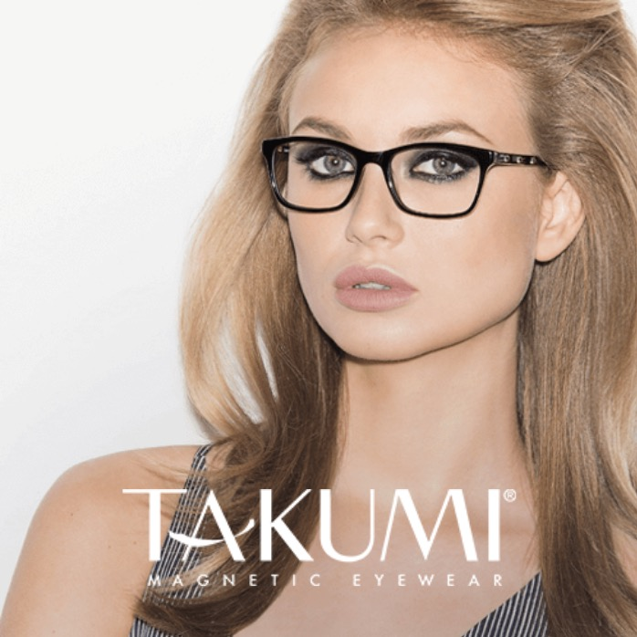 Takumi Glasses With Magnetic Sunglass Clips