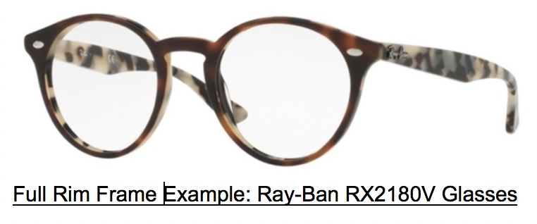 Full Rim Glasses: Ray Ban RX2180V