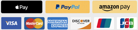 We Accept Visa, Master Card, Amex, Discover, Amazon Payments & PalPal